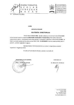 F.F.F. URGENT RAPORTARE DIFERENTE HOTARARI JUDECATORESTI TERMEN 28.11.2012 ORA 12